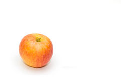 Ripe red apple. On white background Stock Images