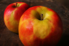 Ripe red apples stock photos
