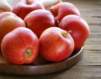 Ripe red apples autumn harvest Royalty Free Stock Photo
