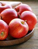 Ripe red apples autumn harvest Stock Photos