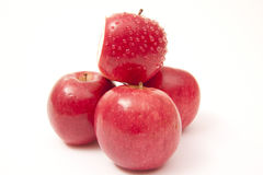 Ripe red apples isolated on white Royalty Free Stock Image