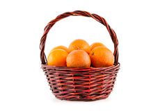 Ripe red blood oranges in a basket Royalty Free Stock Photos