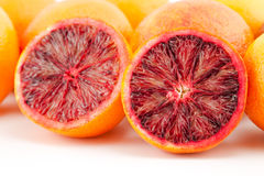 Ripe red blood oranges and slices Royalty Free Stock Photography
