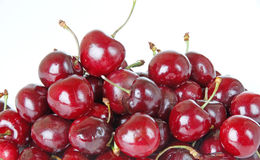 Ripe Red Cherries Close Up Stock Photos