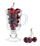 Ripe red cherries Royalty Free Stock Image