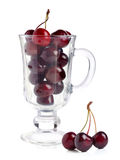 Ripe red cherries Stock Images
