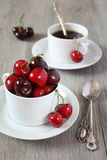Ripe red cherry Stock Photography