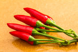Ripe red chili peppers Royalty Free Stock Photo