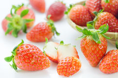 Ripe red fruits Stock Images