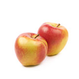 Ripe red and golden jonagold apple Royalty Free Stock Images