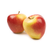 Ripe red and golden jonagold apple Stock Photography