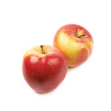 Ripe red and golden jonagold apple Stock Photo