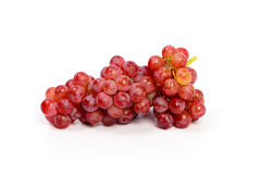 Ripe red grape isolated on white Stock Images