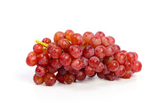 Ripe red grape isolated on white Royalty Free Stock Photography