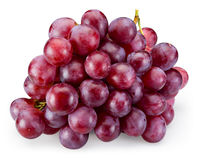 Ripe red grape isolated on white. With clipping path Stock Photo