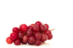 Ripe red grape isolated. Stock Photo