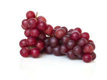 Ripe red grape isolated. Stock Photos