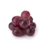 Ripe red grape with leaves isolated on white Royalty Free Stock Photos