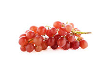 Ripe red grape on white Stock Image
