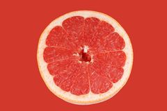 Ripe red grapefruit Royalty Free Stock Images