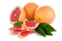 Ripe red grapefruit Stock Photo