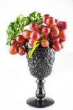 Ripe red grapes isolate Stock Image