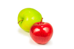 Ripe red and green apple Stock Images