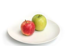 Ripe red and green apples Royalty Free Stock Image