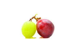 A Ripe red and green grapes Royalty Free Stock Photo