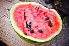 Ripe red juicy watermelon Stock Images