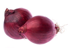 Ripe red onions Royalty Free Stock Photography