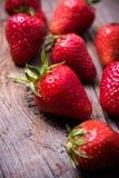Ripe red organic strawberries Royalty Free Stock Image