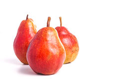 Ripe Red Pear, isolated on White Royalty Free Stock Photo