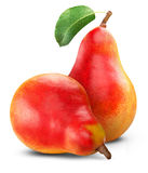Ripe red pear Royalty Free Stock Image