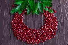 Ripe red pomegranate grain Royalty Free Stock Photos