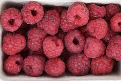 Ripe red raspberries background Stock Photo