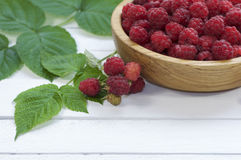 Ripe red raspberries Royalty Free Stock Photography