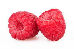 Ripe red raspberry Stock Photos