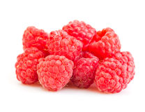 Ripe red raspberry. Isolated on white background Stock Photo