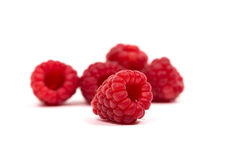 Ripe red raspberry Stock Image