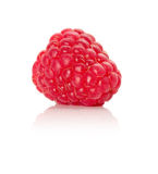 Ripe red raspberry isolated on white background.  Royalty Free Stock Photo