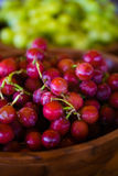 Ripe Red Seedless Grapes Royalty Free Stock Photos