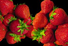 Ripe red strawberries Stock Image