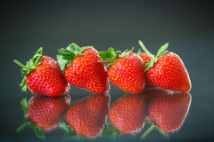 Ripe red strawberries Stock Photography