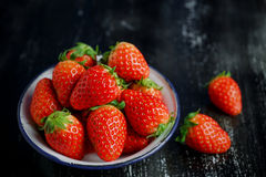 Ripe red strawberries Royalty Free Stock Photos