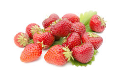 Ripe red strawberries Stock Photos