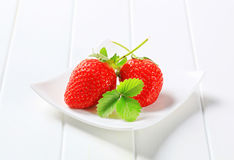 Ripe red strawberries Royalty Free Stock Photography