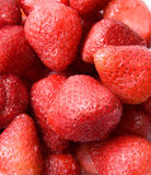Ripe red strawberry. Patterned background material Royalty Free Stock Photo