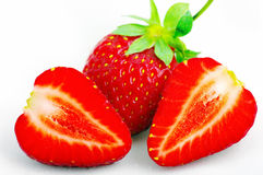 Ripe red strawberry Stock Photography