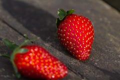 Ripe red strawberry Stock Image